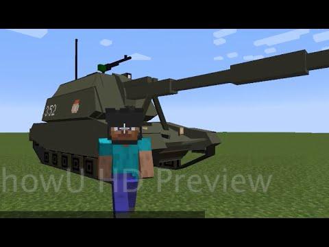 Minecraft Flans mod: self-propelled artillery fun