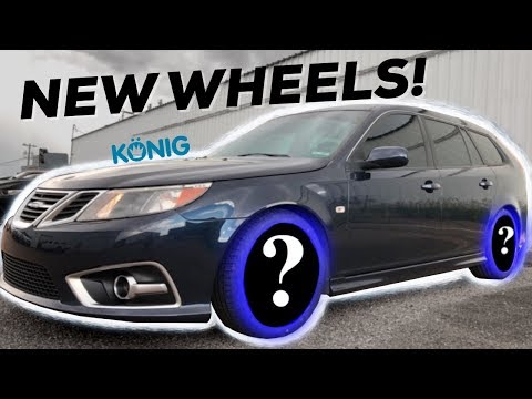 NEW WHEELS for the Daily driver Saab!