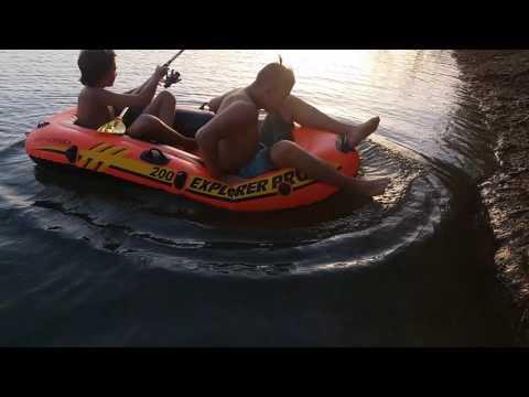 Pesca con barca inflable