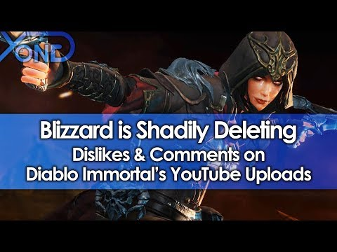 Blizzard is Shadily Deleting Dislikes & Comments on Diablo Immortal's YouTube Uploads
