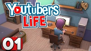 """Youtubers Life #01 """"Dormir é opcional"""" - Gameplay Português Vamos Jogar PT-BR"""