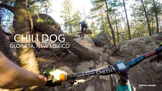 Chili Dog from top to bottom. Lots of chunk and fun natural features make this trail a standout at Glorieta.