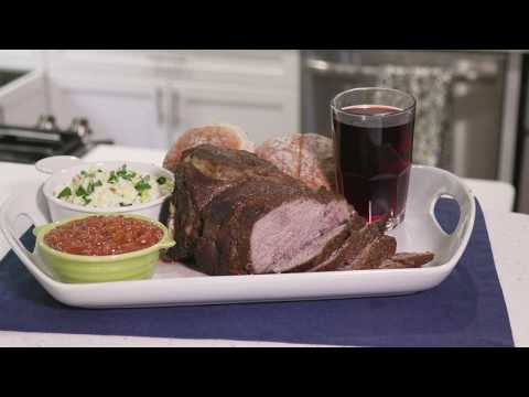 Rotisserie Bourbon Pork Roast - Americana Electric Grill