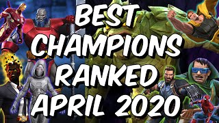 Best Champions Ranked April 2020 - Seatin's Tier List - Marvel Contest of Champions