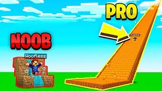 MINECRAFT NOOB vs PRO GIANT SLIDE CHALLENGE!