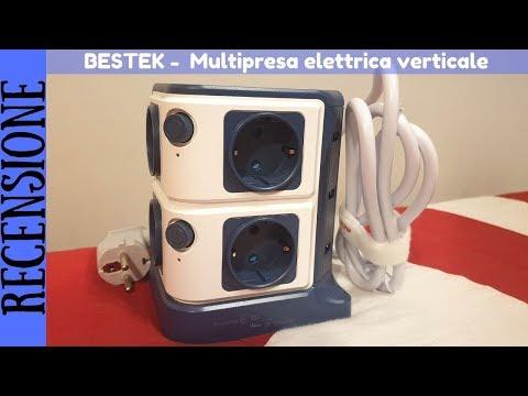 RECENSIONE - Bestek Multipresa Verticale con 8 prese Schuko e 6 porte USB