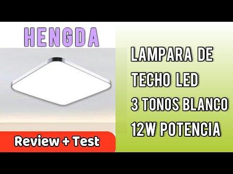 Hengda Lámpara De Techo LED 12W Moderno Plafón Iluminación Regulable   UnBoxing Review en Español