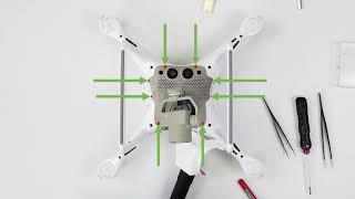 Как установить TOPODRONE DJI Phantom 4 PPK Upgrade Kit?