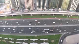 Traffic in Sheikh Zayed Road, Dubai, UAE, 2015.
