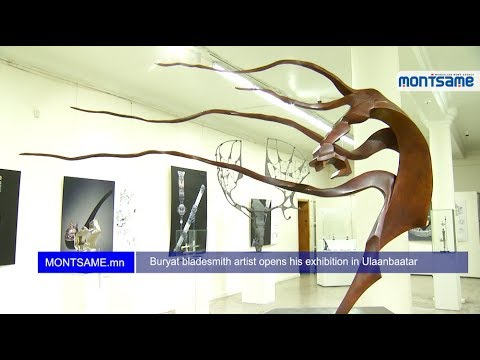 Buryat bladesmith artist opens his exhibition in Ulaanbaatar
