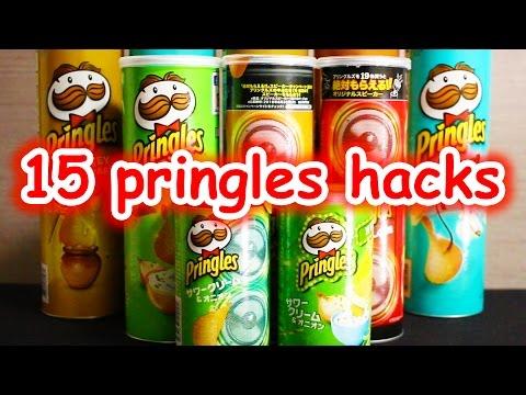プリングルスでできる15のコト/15 Pringles Tricks/プリングルズの缶を使ったユニークアイデアまとめライフハック動画