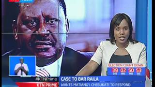 Charles Ndugu Mwangi moves to court to bare NASA's flag bearer Raila Odinga from contesting