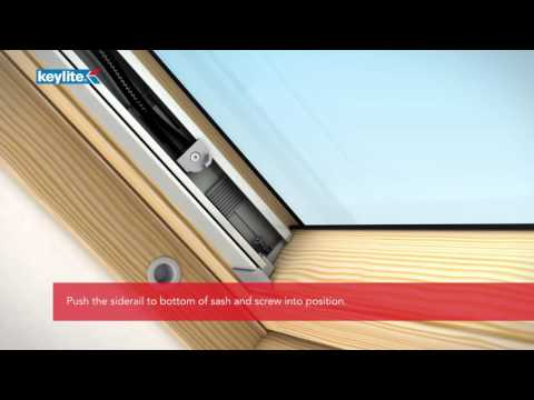 Keylite solar blinds.
