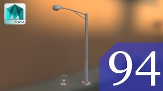How to model in Maya a Street Lamp