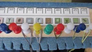 Смотреть онлайн Как сделать органайзер для ниток, вышивание крестиком
