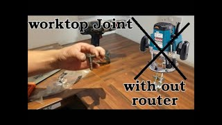 how to fit a kitchen worktop and make kitchen worktop butt joint without router