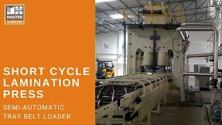 Short Cycle Lamination Press Line – Belt Type
