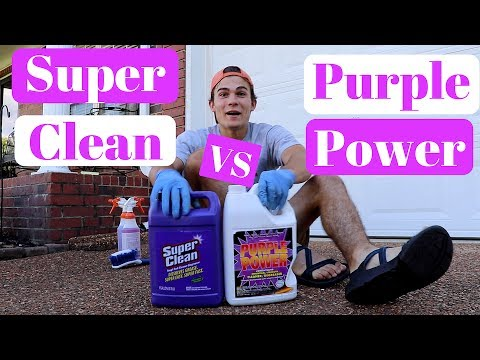 Super Clean VS. Purple Power Degreaser: Carpet Shampoo & Stain Removal!