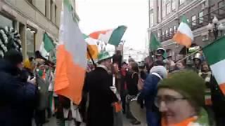 St. Patrick day celebration Moscow Arbat street 16.03.2019   День Святого Патрика Арбат 2019