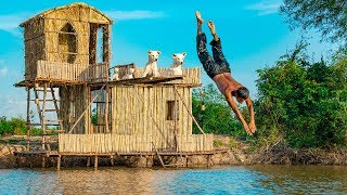 Room Decor And Build Diving Board On Floating Village (Step 2)