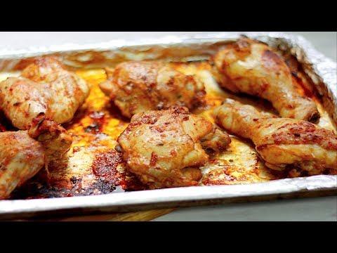 SPICY HONEY GARLIC CHICKEN (in ketchup soy sauce marinade)