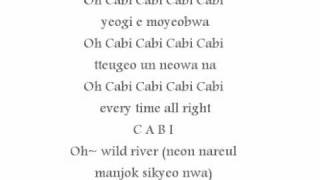SNSD & 2PM cabi song lyrics