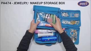 PA474 Yazzii Jewelry Makeup Storage Box | Yazzii Travel Bags