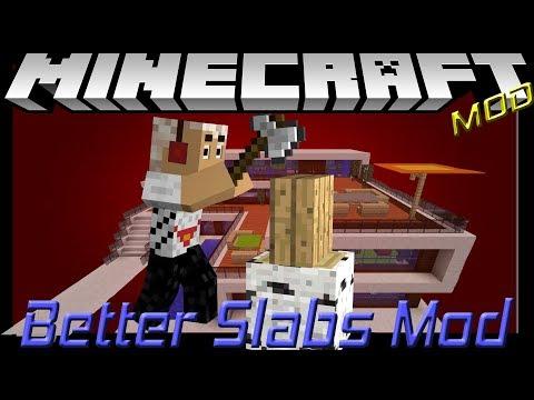 Better slabs mod || MineCraft 1.11.2 Mod showcase 6 ||