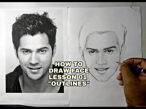 pencil drawing of a face for beginners by ankit jasmatiya
