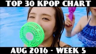 TOP 30 KPOP CHART - AUGUST 2016 (WEEK 5)