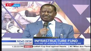 African Union Envoy Raila Odinga emphasis on the need for funding infrastructure in Africa