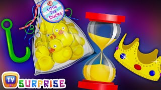 Surprise Eggs Nursery Rhymes Toys | Hook a Duck Game – Kids Fair / Carnival | ChuChu TV Egg Surprise