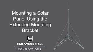 solar panel extended bracket