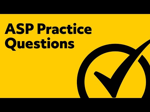 Free ASP Practice Test - YouTube