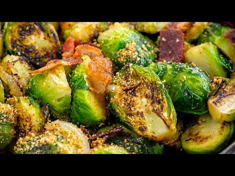 Sauteed Brussels Sprouts in Bacon