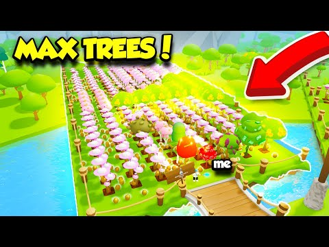 I Planted EVERY TREE In TREE PLANTING SIMULATOR And Reached MAX TREES!! (Roblox)