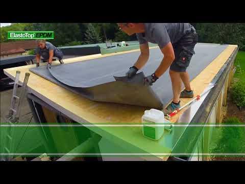 EPDM Dachbahn auf Holz/OSB mit W-1 verlegen - Perfekte Dachabdichtung mit ElastoTop EPDM 90 Minuten