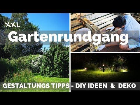 Garten Deko DIY - Gartengestaltung Tipps Ideen - Gartenbeleuchtung - Gartenmöbel - Garten gestalten