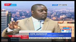 George Maina CEO Caritas micro-finance speaking of Home ownership: Business Today