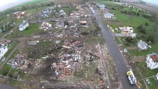Delmont, SD Tornado damage. 5/10/2015