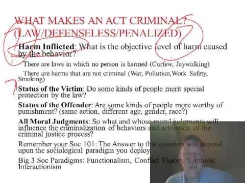 Criminology Week 1: What is Criminology? What is Crime? Who Decides?