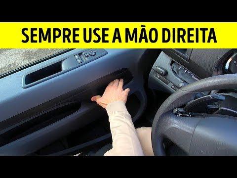 É importante abrir a porta do carro com a mão direita!