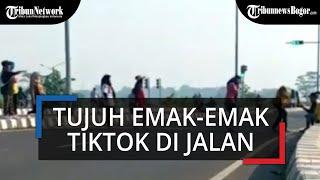 Tujuh Emak-Emak Joget TikTok di Tol Sentono Pekalongan, Begini Tanggapan Polisi