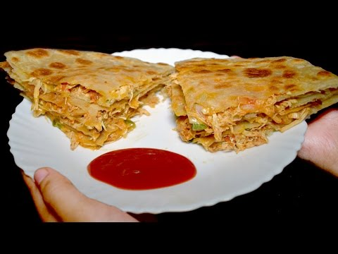 Pizza Paratha recipe - Kids Lunch Box Idea - Breakfast Recipe