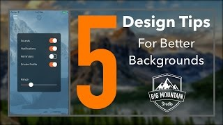 5 Design Tips For Better Backgrounds (iOS, Xcode 8)