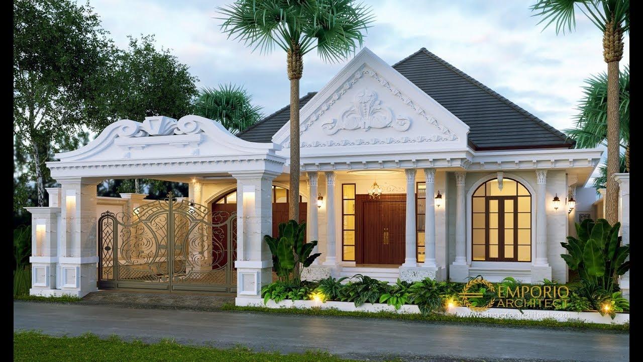 Video 3D Desain Rumah Classic 1 Lantai Bapak Reza di Lampung
