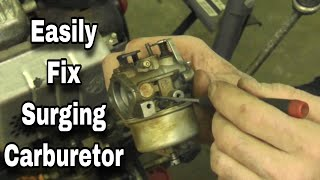 How To Fix A Surging Carburetor with Taryl