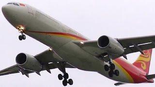 Hainan Airlines Airbus A330-343 B-6520 Trent 700 HU 489 overhead + final approaching Berlin Tegel