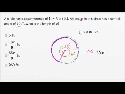 Angles, arc lengths, and trig functions — Harder example