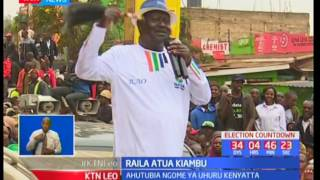Mgombea Urais katika muungano wa NASA Raila Odinga azuru ngome ya Rais Uhuru Kenyatta